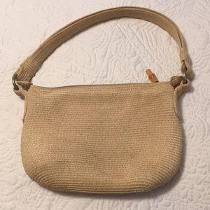 Talbots straw like fabric handbag